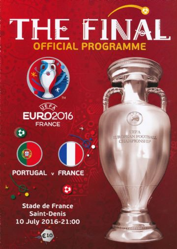 Euro 2016 Final official match programme France v Portugual - English language edition
